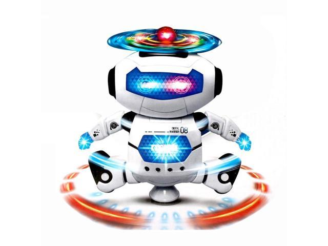 Hands movement Dancing Robot with 360 degree rotation LED light