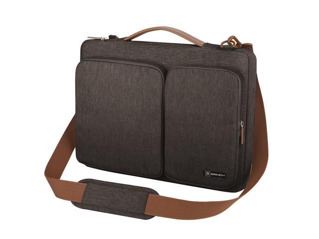 0fd7b4e0ea46 Wanmingtek Laptop Bag, Waterproof Roomy Stylish Laptop Shoulder Messenger  Bag Handle Bag Tablet Briefcase with Luggage Strap for 13- 13.3 Inch Laptop  ...
