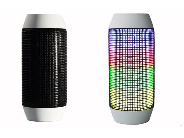 Wanmingtek Plus Wireless Bluetooth Speaker, LED Light Party Programs,  Built-in Speakerphone, Rechargeable, Play Music, Connect to iPhone,  Android,