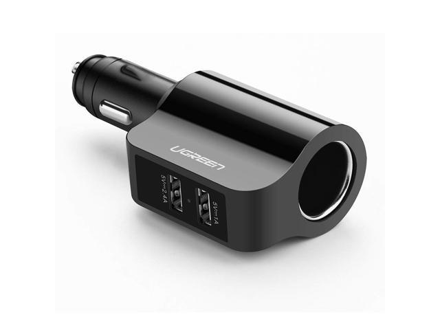 Double USB Car Cigarette Charger & Multi Fast Charging Cable