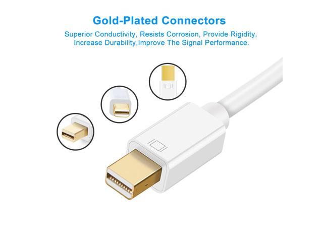 POWE-Tech Micro HDMI A//V TV Video Cable for Samsung Galaxy Camera 2 II EK-GC200 NX F1 Mini 4 FEET