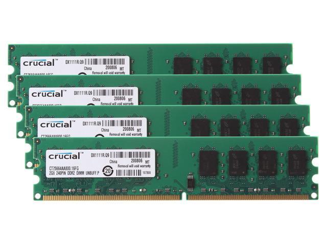 Qimonda 2GB 1 x 2GB PC2-6400 DDR2 240 Pin DIMM HYS64T256020EU-2.5-C2