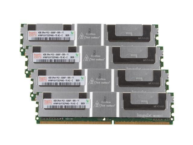 Server RAM 16GB 4x 4GB PC2-5300F FB DIMM F//B DDR2 667 ECC REG Memory TESTED