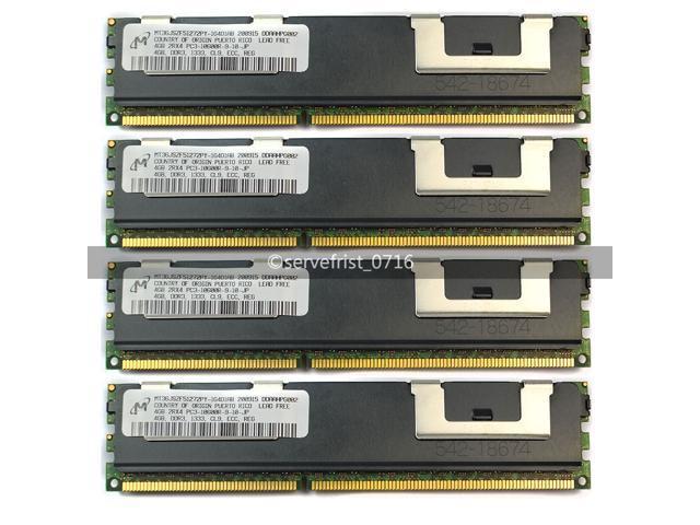 Samsung 16GB 4x4GB 2RX4 PC3L-10600R DDR3 1333Mhz 240Pin ECC REG Server Memory