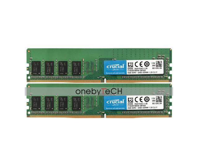 8GB KIT 2x 4GB DDR4 2400MHz PC4-19200 288 pin DESKTOP Memory Non ECC 2400 RAM 8G