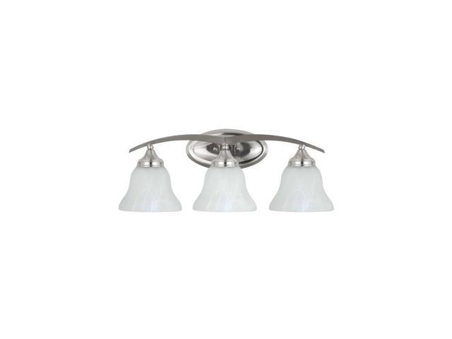 Sea Gull Lighting 44236 962 2 Light Brushed Nickel: Sea Gull Lighting Brockton Wall/Bath Vanity, Brushed
