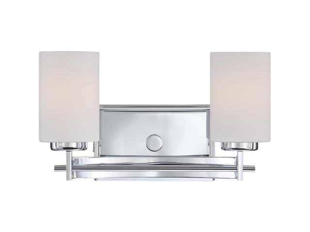 Quoizel 2 Light Taylor Bath Fixture In Polished Chrome