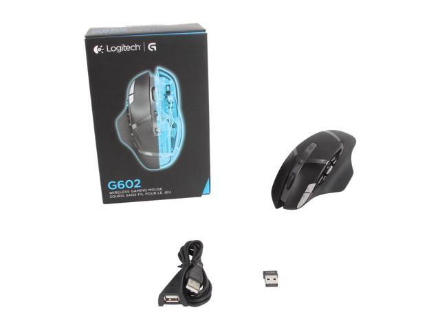 Gaming Mouse, New Logitech G602 Lag-Free Wireless Gaming Mouse – 11  Programmable Buttons, On-the-fly adjustable DPI Up to 2500 DPI, Black RF  Wireless