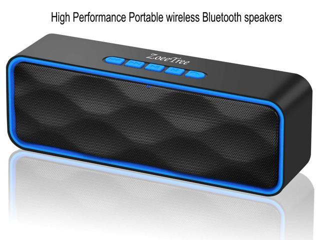 Portable wireless Bluetooth speakers, Portable 10.10 Wireless Speaker EDR  Stereo with Loud HD Audio and Bass, Built-In Mic, FM Radio, 110H Playtime ,  TF