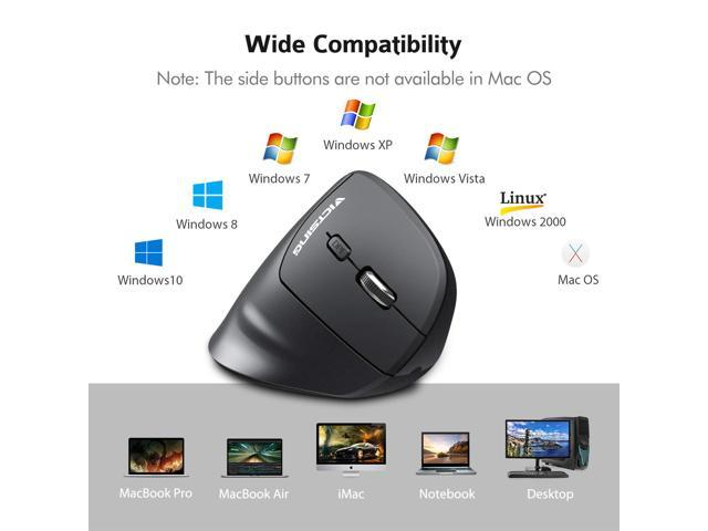 Yehyep Wireless Mouse Black 2.4G Wireless Vertical Ergonomic Optical Mouse Left Handed with 800//1200//1600 DPI//Enters Sleeping Mode After 8 Minutes Idle for Laptop//Desktop//PC//MacBook