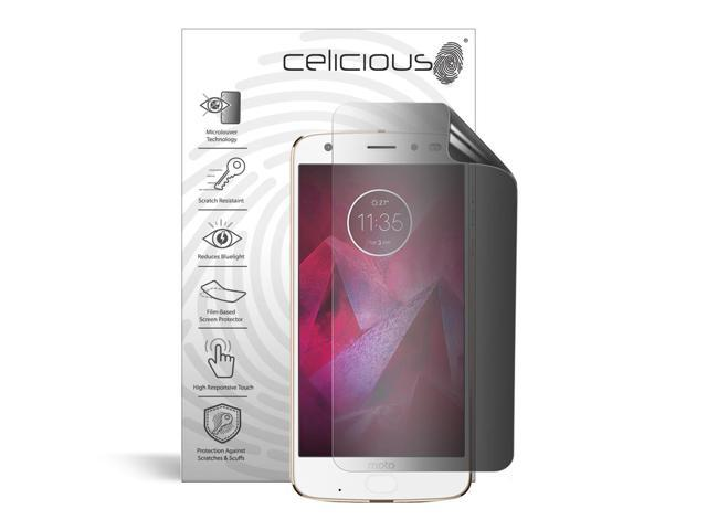 Celicious Privacy Plus 4-Way Anti-Spy Filter Screen Protector Film Compatible with Motorola Moto Z2 Force Edition