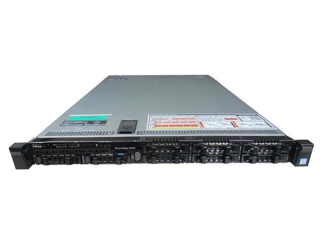 Refurbished: Dell PowerEdge R630 8 Bay SFF Rack Server - 2 x E5-2687W v4  3 00 GHz 12 Core - 32GB RAM - 8 x 600GB HDD - H330 - Newegg com