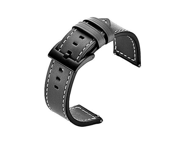 for Fossil Gen 4 Q Explorist HR Band,22mm Fossil Gen Q Explorist Gen 3  Bands Leather Band with Stainless Steel Buckle for Fossil Q Marshal  Gen3/Fossil