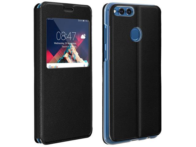 the latest 7d062 8d54e Smart view window flip case for Honor 7X, slim cover - Black - Newegg.com
