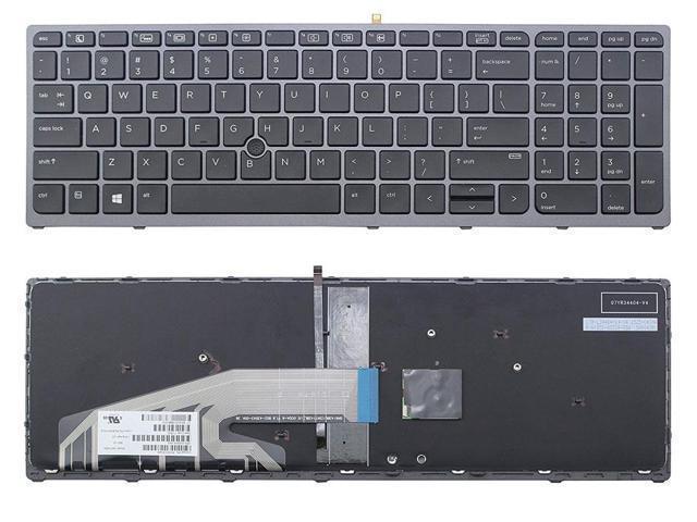 6037B0102202 MP-13U83U4J930 752962-B31 6037B0102201 MP-13U83USJ930 US Layout Light Backlight Black Notebook Laptop Backlit Keyboard Compatible for HP P//N