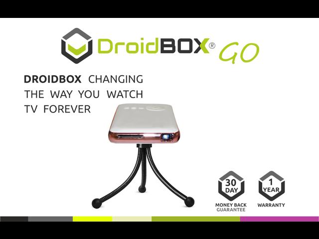 DroidBOX™ GO V2 Android 4 4 2 DBMC/SPMC/XBMC Mini handheld Pocket Pico DLP  LED Projector 32GB ARM Cortex-A7 QuadCore Home Outdoor Cinema -