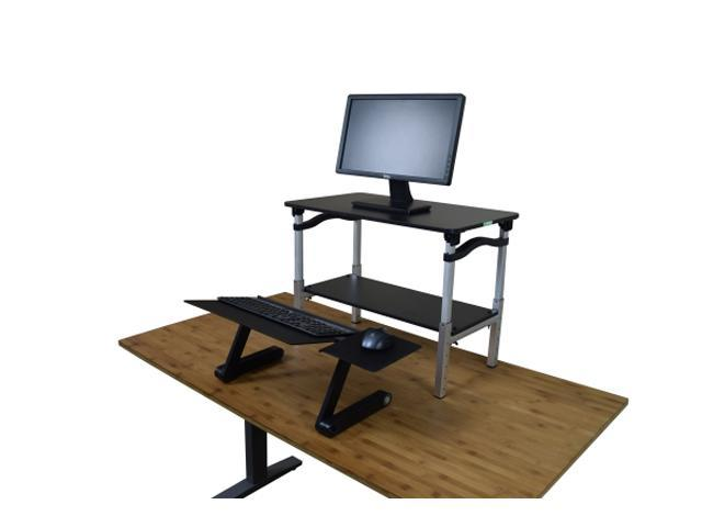 pretty nice 90f13 3c2e7 LIFT Standing Desk Converter. Tall adjustable height portable affordable  sit to stand up desktop riser conversion stand with negative tilt keyboard  ...