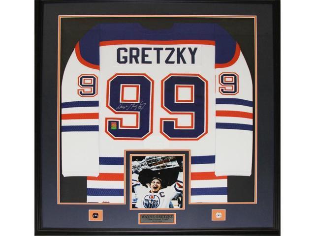 reputable site 6ef4f d4def Wayne Gretzky Edmonton Oilers Signed jersey frame (white) - Newegg.com