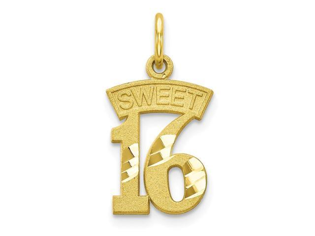 Charms for Bracelets and Necklaces 10k Yellow Gold Horn Of Plenty Charm