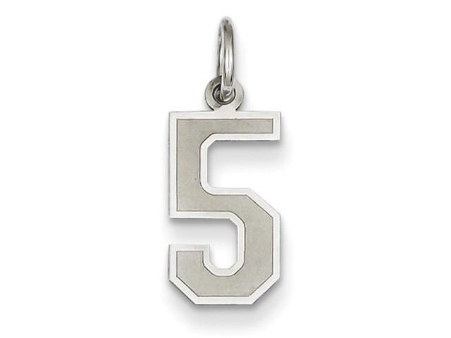 14k White Gold Small Satin Number 9 Charm