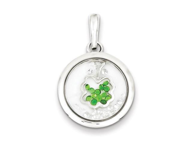 925 Sterling Silver Polished Flower Charm Pendant