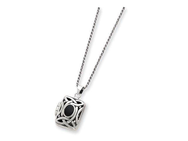 925 Sterling Silver 18in /& Simulated Pearl Polished Heart Necklace