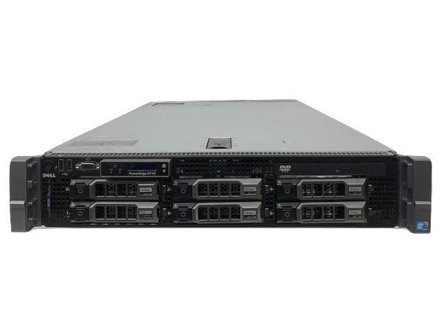 DELL POWEREDGE R710 SFF 2x QUAD CORE X5560 2.8GHz 16GB 4x TRAY RAILS PERC 6i