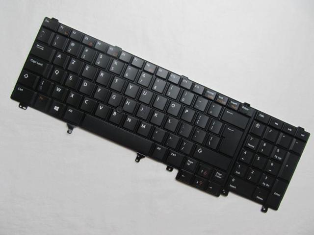 For Dell Latitude E5520 US Black Keyboard Without Point Stick F5YDT Non-Backlit