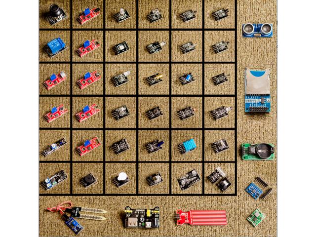 45 in 1 Sensors Modules Starter Kit for Arduino Better Than 37 in 1 Sensor Kit