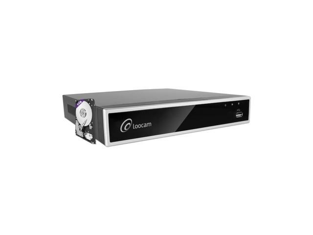 Loocam Full 1080p HD 4 Channel Security DVR Recorder, H 264 Hybrid 4-in-1  TVI DVR Surveillance System(Analog/AHD/TVI/CVI),Motion Detection,Mobile