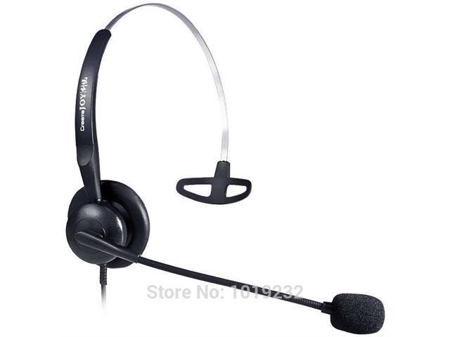 RJ9/rj10/rj12 plug headset headphone Noise canceling Telephone headset call  center headset RJ09/RJ11 plug telephone headset - Newegg com