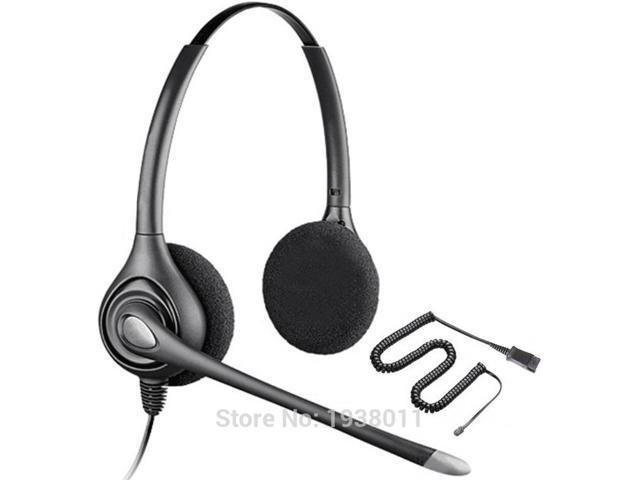 Additional 2 ear pads+Binaural RJ9 plug Headset QD office call center  telephone headset ,2 5mm or 3 5mm plug optional - Newegg com
