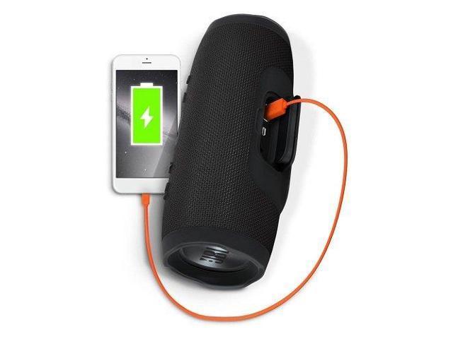 Jbl Charge 3 Waterproof Portable Bluetooth Speaker Black Newegg Com