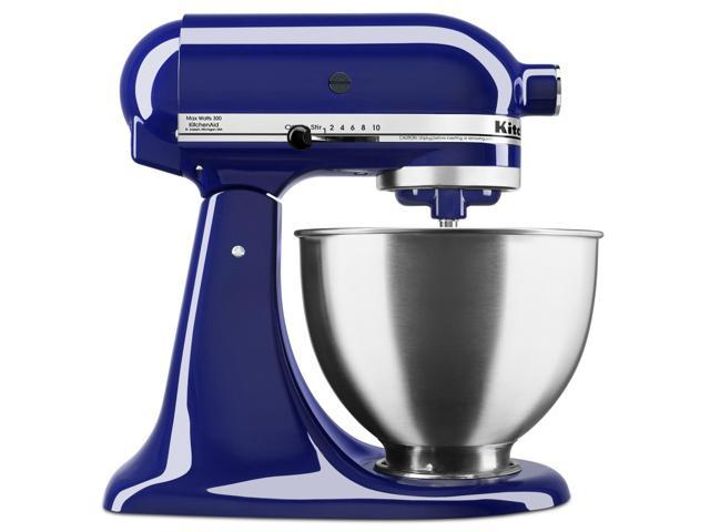 Refurbished: KitchenAid KSM88BU Deluxe 4.5 Quart 10-Speed Tilt-Head Stand  Mixer, Cobalt Blue - Newegg.com