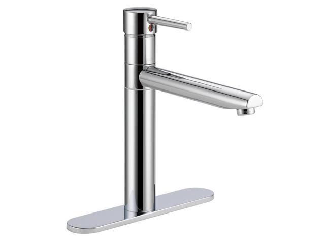 Refurbished: Delta 1158LF Trinsic Single-Handle Standard Kitchen Faucet  featuring High-Arc Swivel Spout, Chrome - Newegg.com