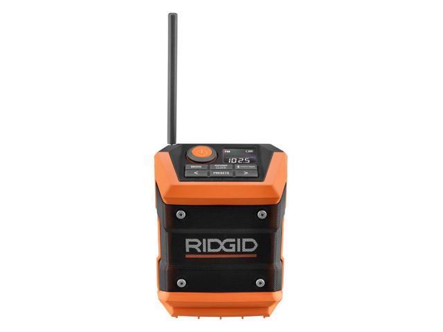 Rigid 18 Volt Mini Cordless Water-Resistant Bluetooth Radio with Radio App  Connectivity (Tool Only) - Newegg com