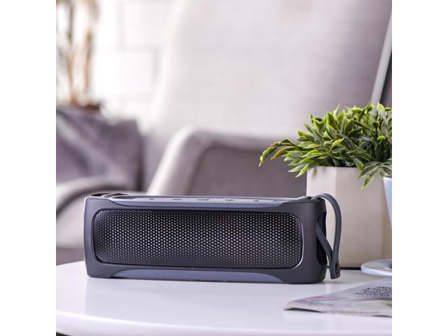 Blackweb Rugged Stereo Bluetooth Speaker with IPX5 Splash Proof Rating with  Built-In Microphone and Micro-USB Charging Cable, 3 5 Hours of Charging