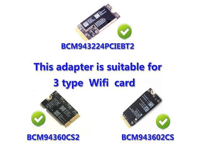 WiFi + Bluetooth 4 0 PCI-E Adapter Card for  BCM943224PCIEBT2/bcm94360CS2/BCM943602CS/WiFi Card Computer Bluetooth  Adapter - Newegg com
