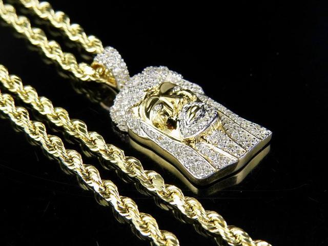High Polish 14k White Gold Screwdriver Pendant Necklace