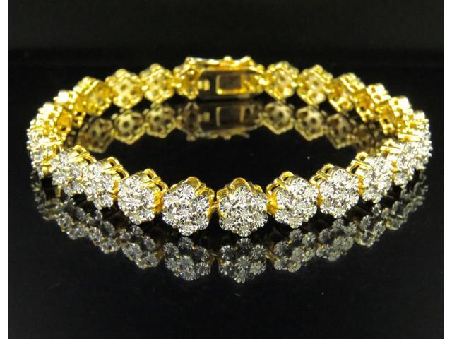 Flower Real Diamond Bracelet 0 75 Ct 8