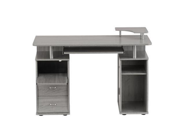 Outstanding Techni Mobili Complete Computer Workstation Desk With Storage Gray Newegg Com Interior Design Ideas Clesiryabchikinfo