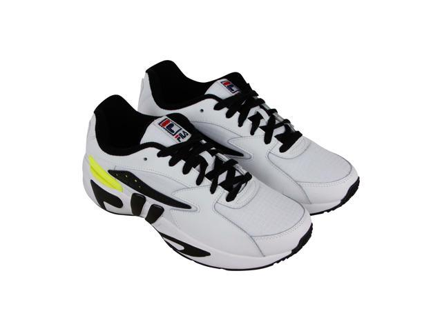 4a14aaea01 Fila Mindblower Slv White Black Safety Yellow Mens Sneakers Low Top Shoes -  Newegg.com