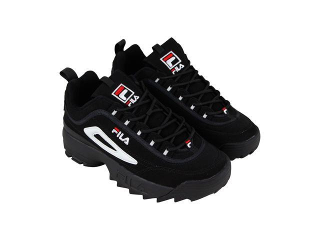 Fila Disruptor Ii Black White Red Mens Sneakers Low Top Shoes