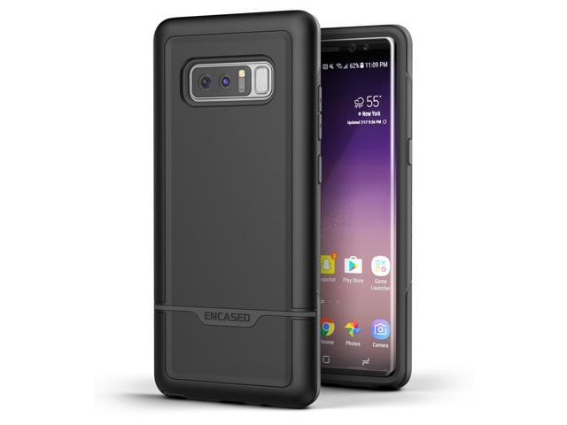 promo code b4ee0 4816f Galaxy Note 8 Tough Case, Encased [Rebel Series] Impact Armor Case for Note  8 [Military Grade Protection] (Black) - Newegg.com
