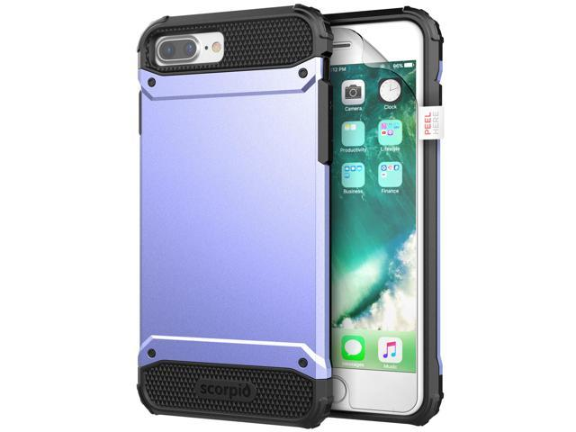 brand new 62cca eb8c7 Apple iPhone 8 Plus Tough Protective Case w/ Screen Protector  R7(Periwinkle) - Newegg.com