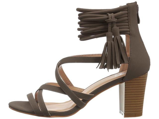 8249b8e958d Journee Collection Womens Ruthie Open Toe Special Occasion, Grey, Size 6.0