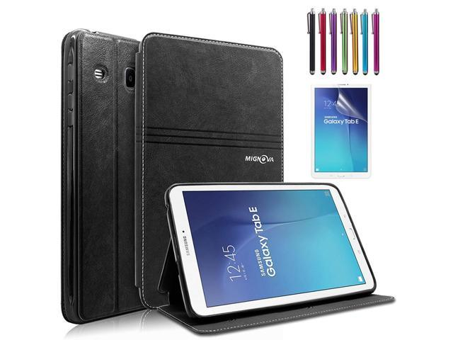 online retailer 2b2c5 74491 Mignova Samsung Galaxy Tab E 9.6 Case - Slim Lightweight Stand Cover for  Samsung Galaxy Tab E 9.6 inch SM-T560 T561 + Free Screen Protector and  Stylus ...