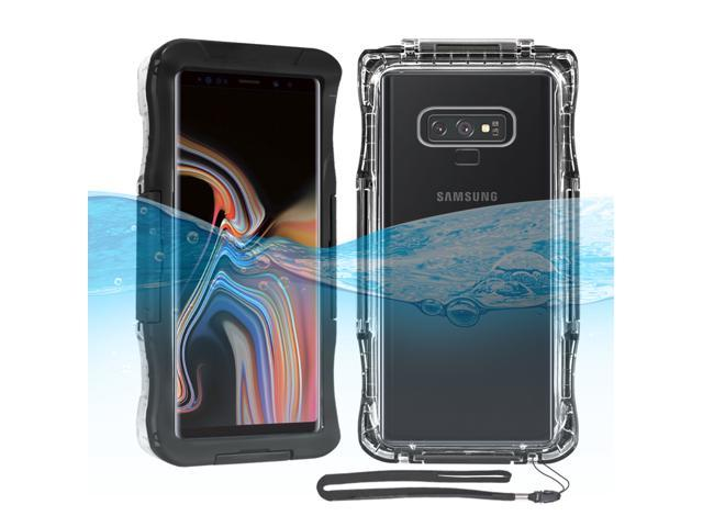 buy popular 43e06 877e0 Mignova Samsung Galaxy Note 9 Waterproof Case, Heavy Duty 360 Degree Full  Body Protection Shockproof Case Built in Screen Protector with Neck Strap  ...
