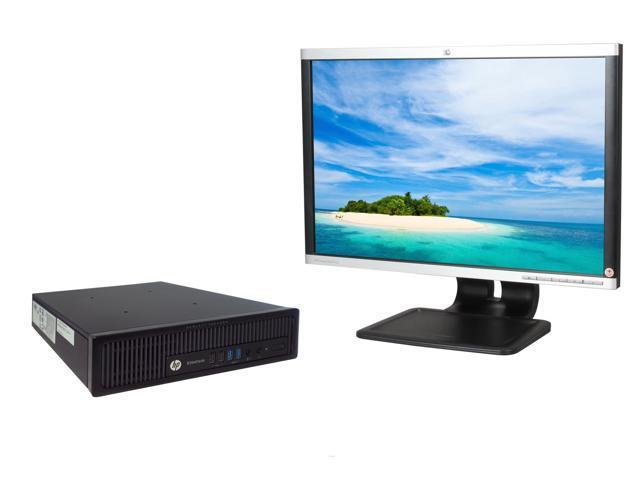 Refurbished: HP EliteDesk 800 G1 Ultra Slim Desktop PC, Intel Core i5-4570s  2 9GHz, 8GB DDR3 RAM, 256GB SSD, Windows 10 Pro and HP LA2205 22-Inch