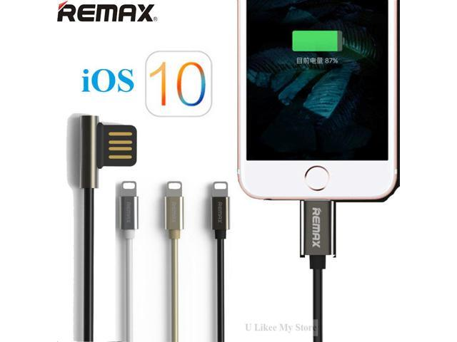 Remax Top Quality 1M Zinc Alloy Dual-side 8Pin USB Fast Charging Data Cable  for iPhone 5 5s SE 6 6S 7 Plus iPad Air Mini iOS 10 - Newegg com